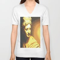 apollo V-neck T-shirts featuring Apollo III by Jerry Watkins