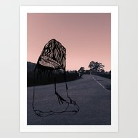 Art Print featuring Crossroads by Intrepid Wallflower