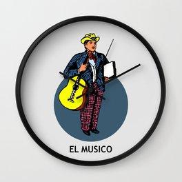 El Musico Mexican Loteria Card Wall Clock