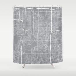 Tempe Map, Arizona USA - Pewter Shower Curtain