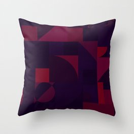 Maroon Bauhaus Throw Pillow