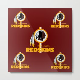 Redskins BEST logo  Metal Print