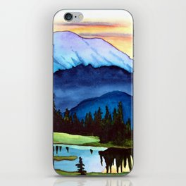 Mount Rainier Lake iPhone Skin