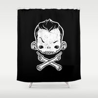 rebel Shower Curtains featuring Rebel by saimen