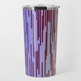 design lines blue with pink Travel Mug