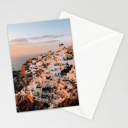 Set on You   Santorini, Greece Stationery Cards