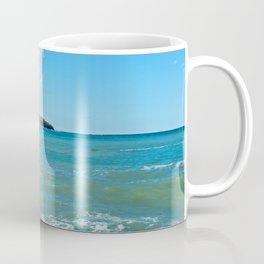 Big wave on the blue sea Coffee Mug