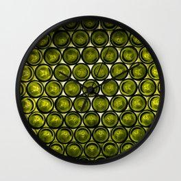 bottle tops pattern Wall Clock