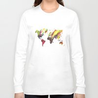 new order Long Sleeve T-shirts featuring World Map new order by jbjart
