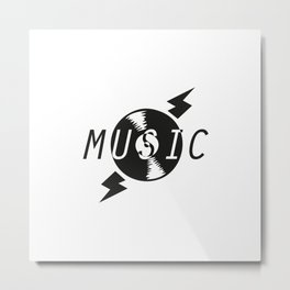 Vinyl Music 2 Metal Print