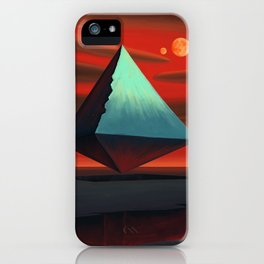 Moon Pyramid iPhone Case