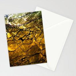 Gold Labradorite Crystal Stationery Cards