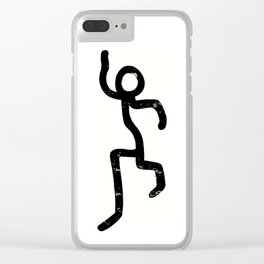 Stick-man Go! by Area 39 Art Clear iPhone Case