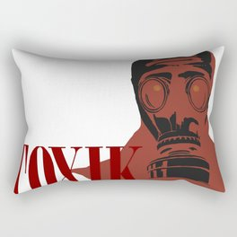 Art print: The Vintage Gas Mask, ToXiK Rectangular Pillow