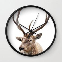 Deer Print, photo print Wall Clock