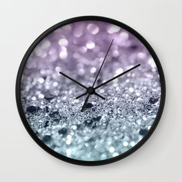 Mermaid Girls Glitter #7 #shiny #decor #art #society6 Wall Clock