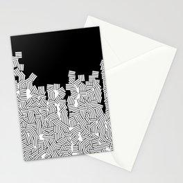 Minimalist black / White geometric Stationery Cards