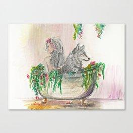Long baths Canvas Print