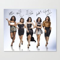 fifth harmony Canvas Prints featuring Fifth Harmony  by stephanie