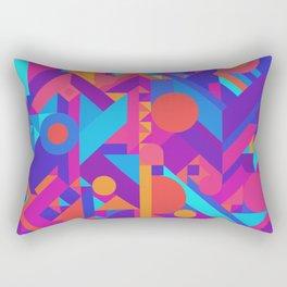 GEOMETRY SHAPES PATTERN PRINT (WARM & COOL COLOR SCHEME) Rectangular Pillow
