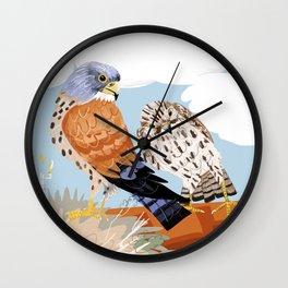 Lesser kestrel Wall Clock