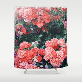 Psychedelic summer florals Shower Curtain