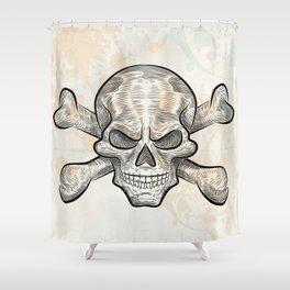 skull sketch design Shower Curtain