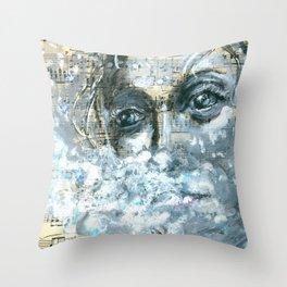 Frozen Breath Throw Pillow