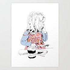 Confiture de Fraise Art Print