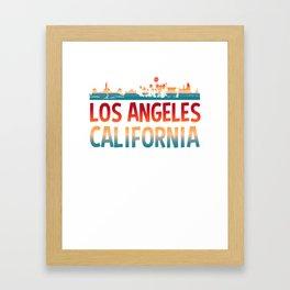 LA skyline, Los Angeles, Los Angeles gifts, California Framed Art Print