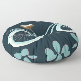 My Bike Floral Floor Pillow