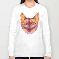 cat coquillette Long Sleeve T-shirts featuring cat by Ola Liola