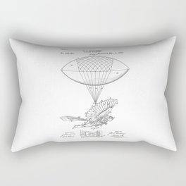 patent art Spalding Flying Machine 1889 Rectangular Pillow