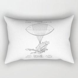 patent art Spalding Flying Machine 1889 Rectangular Pillow