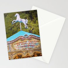 Vintage Paris Carousel Stationery Cards