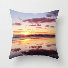 Sunset in Newport Beach Throw Pillow