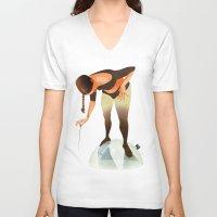 bubble V-neck T-shirts featuring Bubble by Francesca D'Ottavi ArtPrints-Store