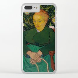 Vincent van Gogh - La Berceuse (Woman Rocking a Cradle; Augustine-Alix Pellicot Roulin, 1851–1930) Clear iPhone Case