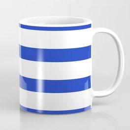 Blue Persian Stripes on White Background Coffee Mug