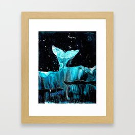Whale of a Tail Framed Art Print