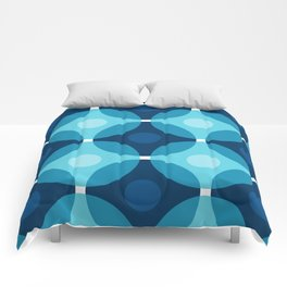 Blue Circles Comforters