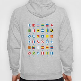 Nautical Flags Maritime Signals Alphabet Hoody