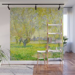 Claude Monet Impressionist Landscape Oil Painting Woman Seated Under The Willows Wall Mural