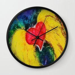 A Free Heart Aqua & Purple Wall Clock