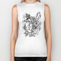 panic at the disco Biker Tanks featuring panic by Maethawee Chiraphong