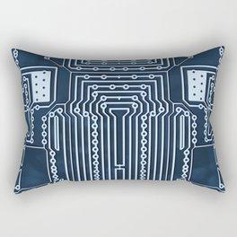 Blue Geek Motherboard Circuit Pattern Rectangular Pillow