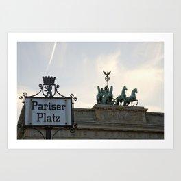 Brandenburger Tor at Pariser Platz Berlin Art Print