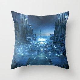 Space City Center - Throw Pillow