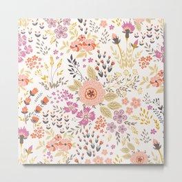 Meadow Flower Pattern 1 Metal Print