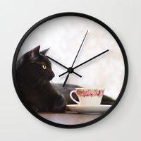 fancy Wall Clocks featuring Fancy by AngelaDanielle